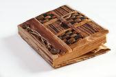 An antique notepad — Стоковое фото