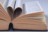 Pages forming a heart — Stock Photo