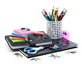 School and Office Supplies — Zdjęcie stockowe