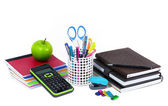 School and office supplies isolated on white background — Foto Stock