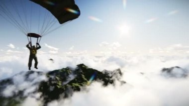 Paratrooper — Video Stock