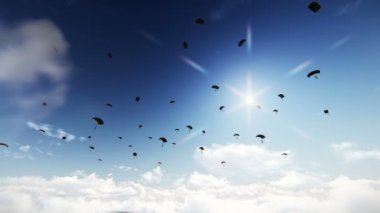 Paratroopers — Stock Video