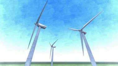 Wind power towers — Stock Video