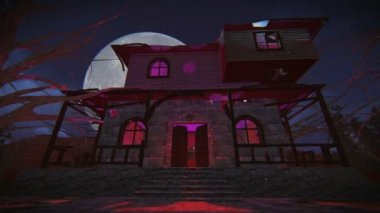Haunted house — Stock Video