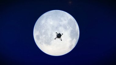 Lunar Module leaving the moon — Stock Video