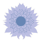 Beautiful blue flower on white background, template — Vetorial Stock