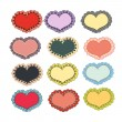 Set of holiday hearts — Stock Vector