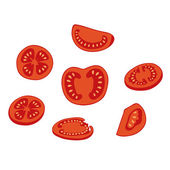 Tomato slices — Stock Vector