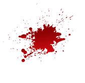 Krevní skvrny izolované na bílém pozadí — Stock vektor