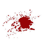 Blood stains isolated on white background — Stock Vector