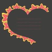 Vector frame in the shape of heart — Stockvektor