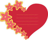 Vector frame in the shape of heart — ストックベクタ