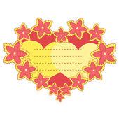 Vector frame in the shape of heart — Stock Vector