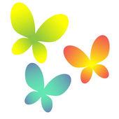 Abstract butterflies vector — ストックベクタ
