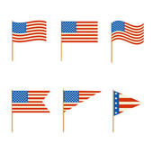 Set of flags vector — Stockvector