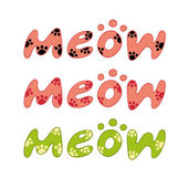 Word meow vector — Stock Vector