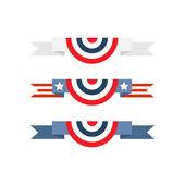 American flag bunting — Stock Vector