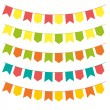 Bunting colorful set — Stock Vector