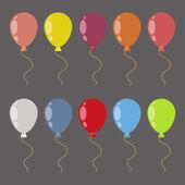 Balloons set — Stock Vector