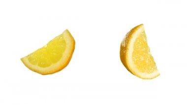 Quarter of tasty lemon — Stock Video