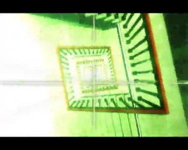 3D trappa och hiss — Stockvideo