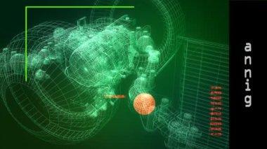 Scanning telecommunication satellite — Stock Video