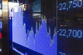 Hong Kong display stock market charts — Stock Photo
