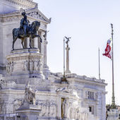 Statue of Victor Emmanuel II of Italy — Stock Photo