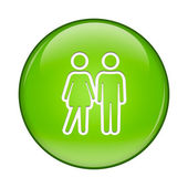 Couple Business Icon — Stock Photo