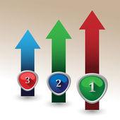 Flechas de negocios infografía-color. — Vector de stock