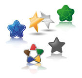 Set of different stars. — Stock Vector