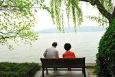 Altes ehepaar entspannen — Stockfoto