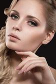 Beautiful blonde girl with perfect skin — Stock Photo