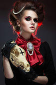Girl in gothic art style. — Stock Photo