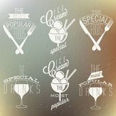 Retro vintage style restaurant menu designs. — Stock Vector