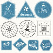 Retro vintage style big reductions signs collection and other promotion labels design. — Wektor stockowy