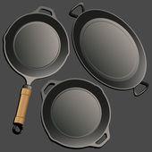 Cookware set. — Stock Vector