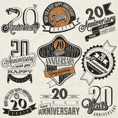 Vintage 20 anniversary collection. — Stock Vector
