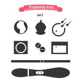 Pregnancy icons set 2  — Stock Vector