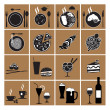 Restaurant menu icons — Stock Vector #43155187