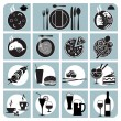 Vector icons for food and drink — Stock Vector