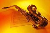 Tenor saxophone — Stock Photo