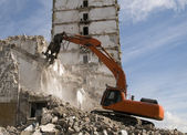 Hydraulic crusher excavator — Stock Photo