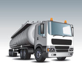 Gasoline tank truck — Stock Vector