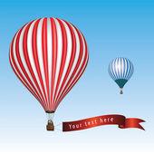 Horkovzdušný balón se zprávou — Stock vektor