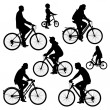 Bicyclists — Stock Vector