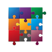 Colorful puzzle — Stock Vector