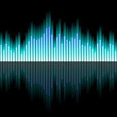 Fali dźwiękowej z błękitu — Wektor stockowy