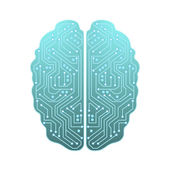 Computer brain — Stock Vector