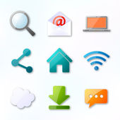 Netz-ikonen — Stockvektor